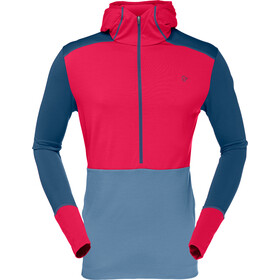 Norrøna Wool Hoodie Men Jester Red/Denimite